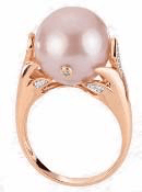 Natural Pink Freshwater Pearl Ring