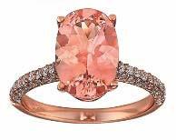Morganite & Diamond ring in Rose Gold